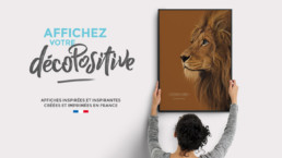 Décopositive - affiches positives - le lion
