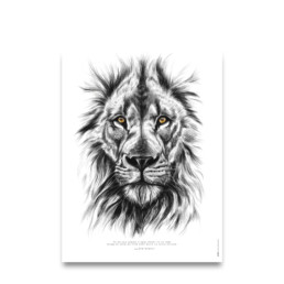 citation sur la force - affiche Lion - citation de Bob Marley :